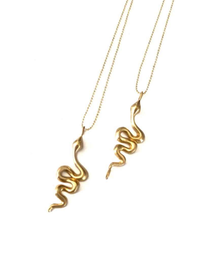 Boho Gal Snake Charm Necklace