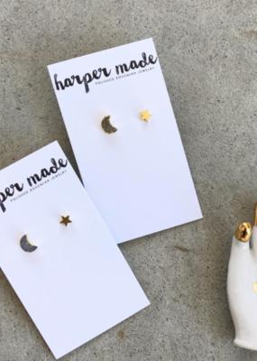 Harper Made Celestial Earring Set Silver
