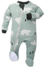 ZippyJamz Be Beary Quiet Babysuit