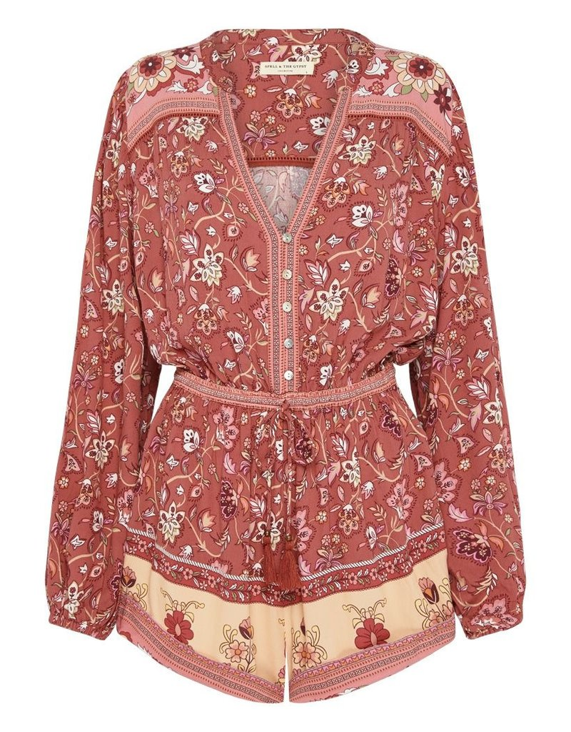 Spell and the Gypsy Collective Portobello Road Playsuit - Wine