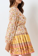 Spell and the Gypsy Collective Portobello Road Long Sleeve Playdress - Honey Dew