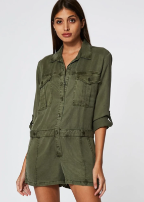 Young, Fabulous & Broke Clothing Rumor Romper - Pine