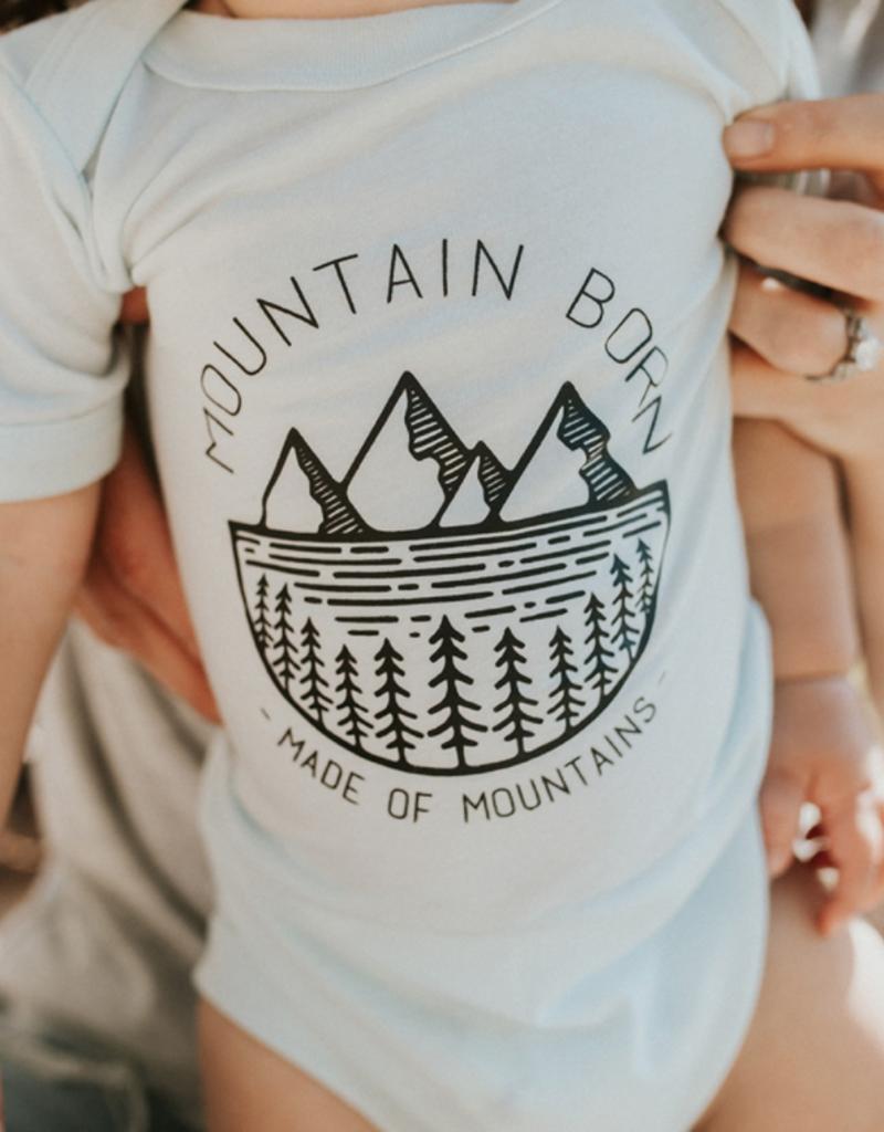Made of Mountains Mountain Born Onesie