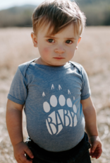 Made of Mountains Baby Bear Onesie - Blue