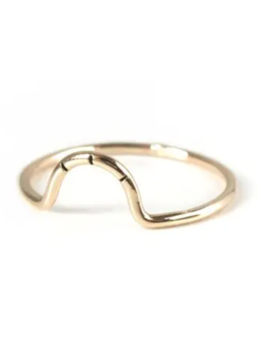 Goldeluxe Jewelry Mini Arc Stacking Ring 14k gold fill