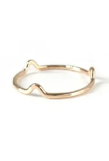 Goldeluxe Jewelry Freeform Stacking Ring 14k gold fill