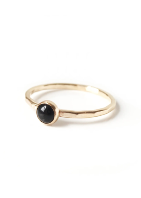 Goldeluxe Jewelry Onyx Stacking Ring 14k gold fill