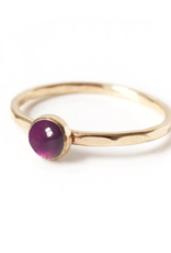 Goldeluxe Jewelry Amethyst Stacking Ring 14k gold fill