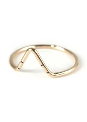 Goldeluxe Jewelry Peak Stacking Ring 14k gold fill