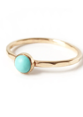 Goldeluxe Jewelry Turquoise Stacking Ring 14k gold fill