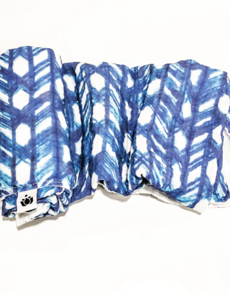 Buddha Babe Co Shibori Lattice Swaddle Quilt