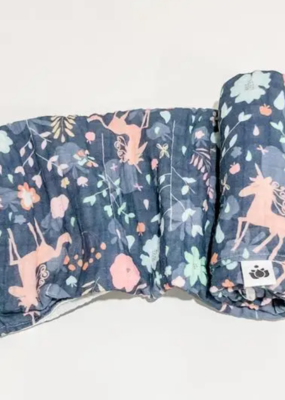 Buddha Babe Co Unicorn Garden Swaddle Quilt