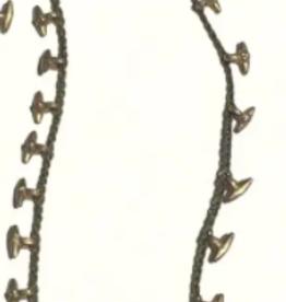 Heather Kahn Halcyon Hardware Necklace - Black