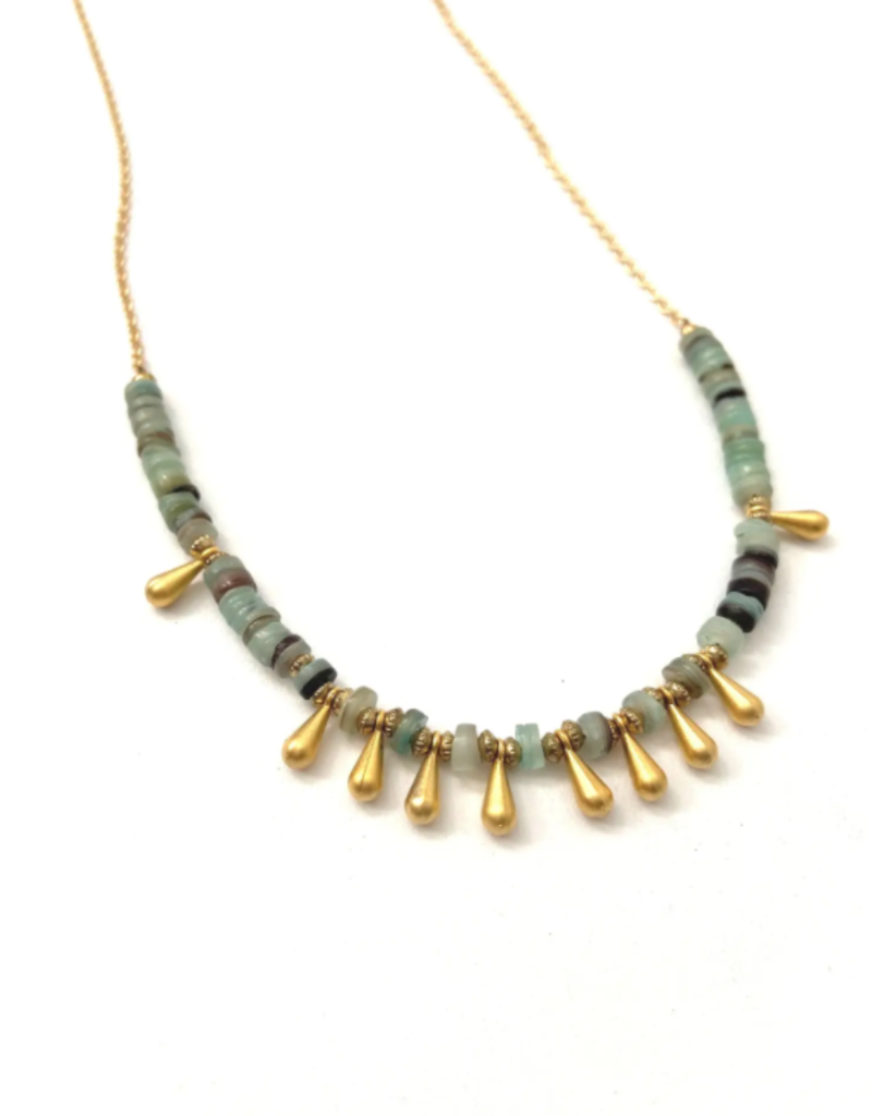 Heather Kahn Shimmy Necklace - Aqua