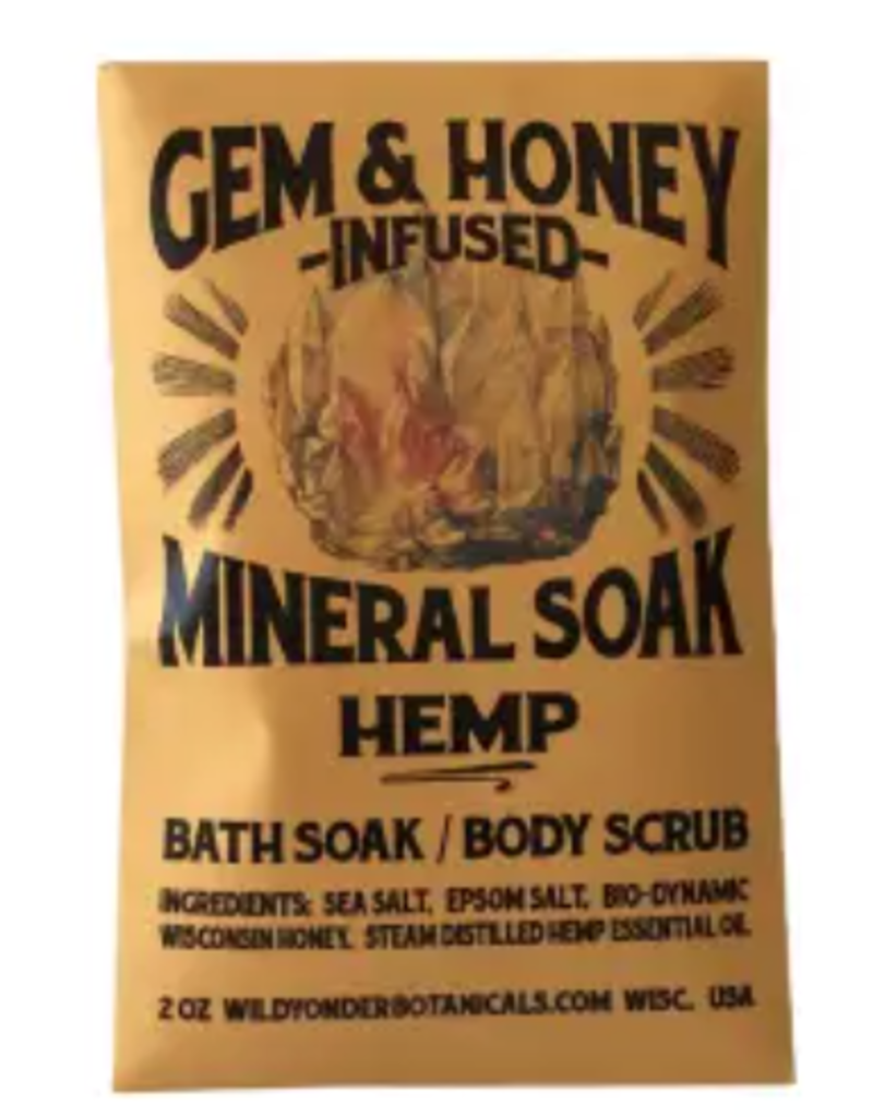 Wild Botanicals Gem Honey Mineral Soak Bath Salts