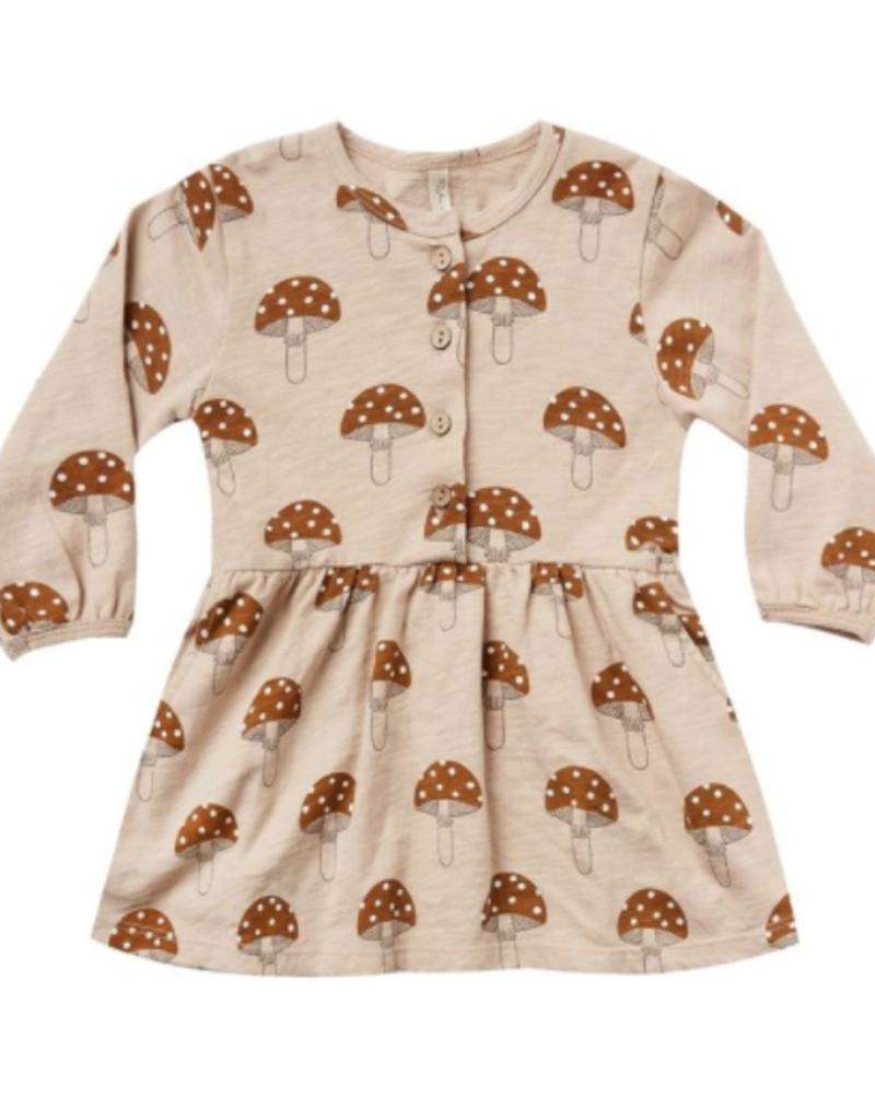 Rylee + Cru mushroom button up dress