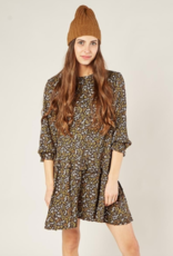 Rylee + Cru dark floral hazel shift dress