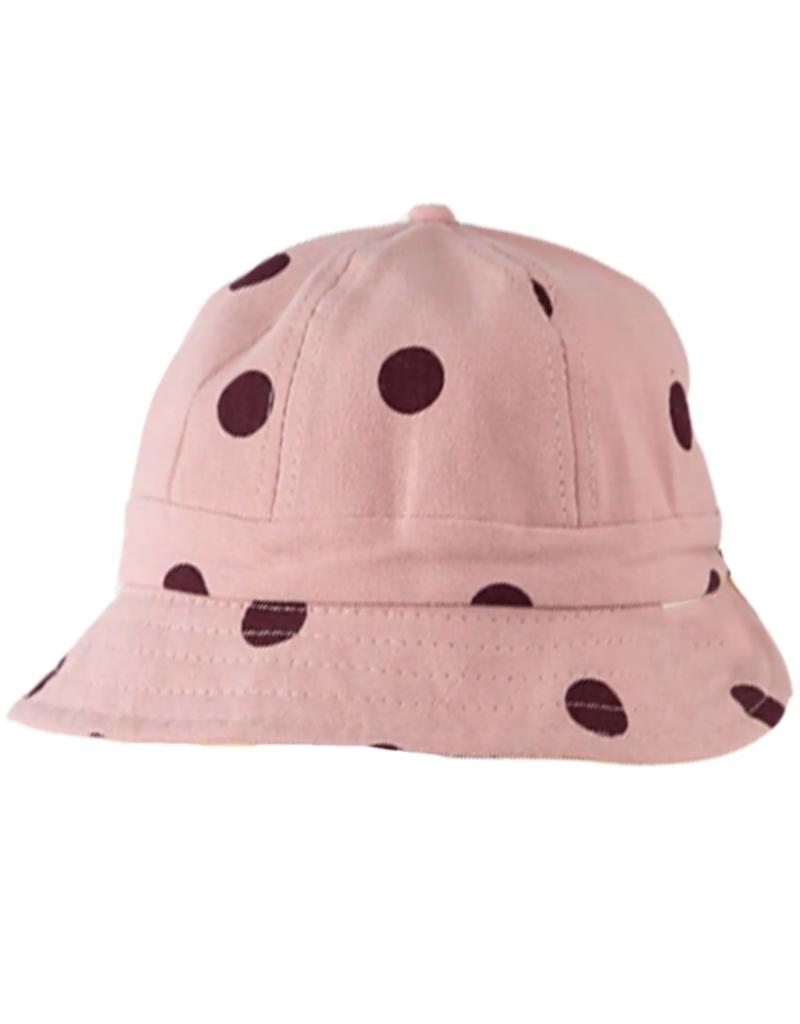 Disco Panda Kids Polka Dot Sun Hat - Pink