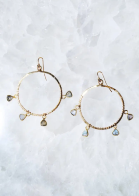 Native Gem Ysabel Hoops