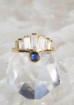 Native Gem Kate 14K vermeil ring - Blue Moonstone 7