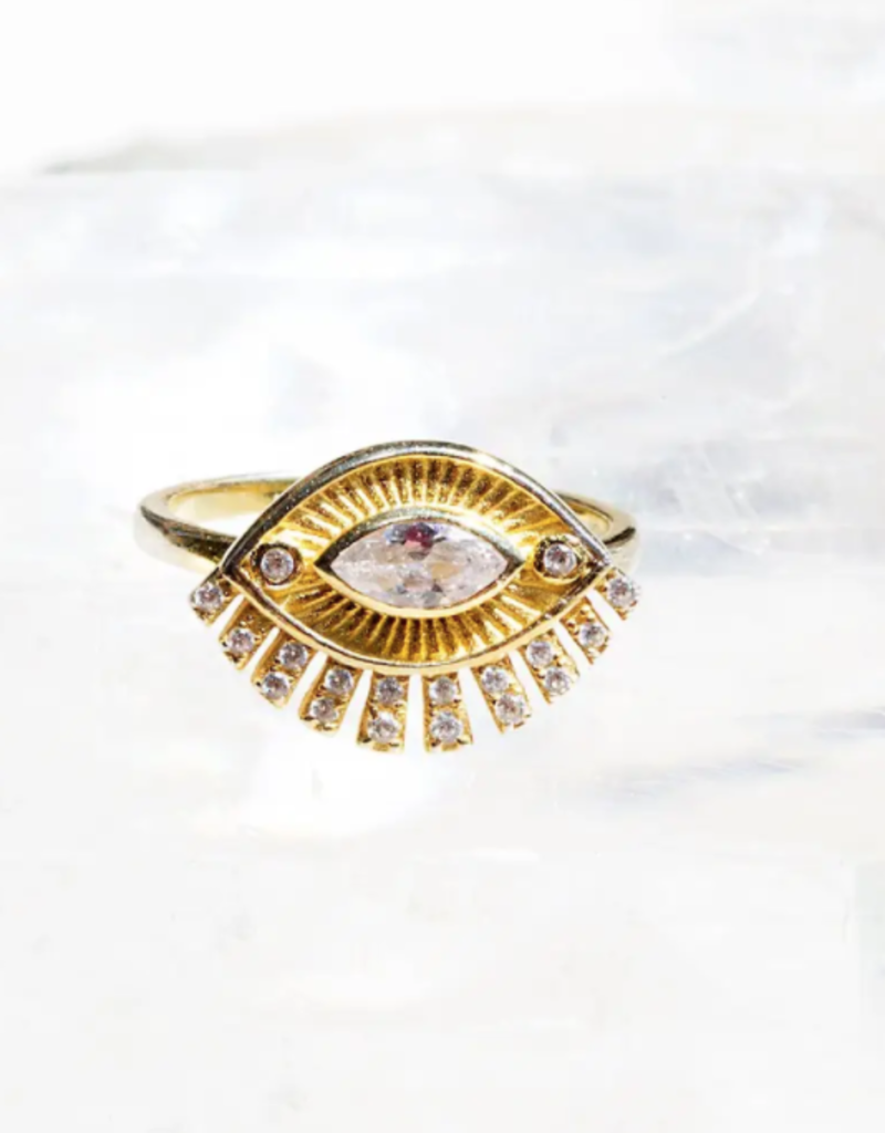 Native Gem Foresight Eye 14K vermeil ring 6
