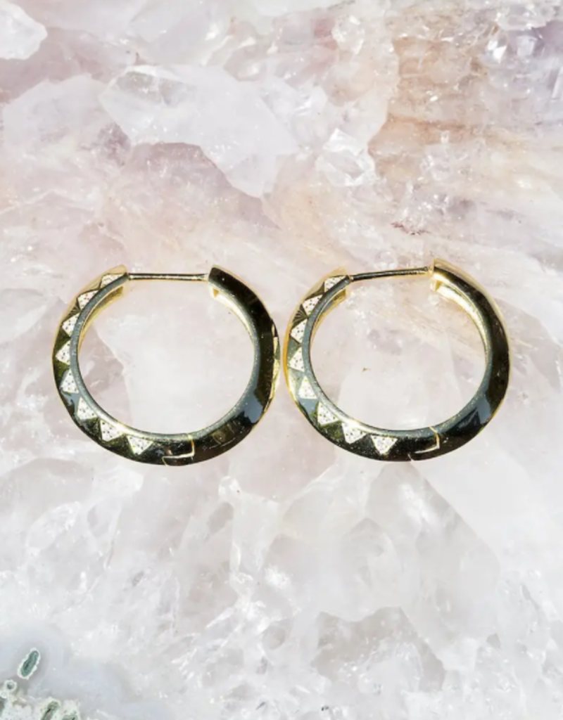 Native Gem Lightning Hoops