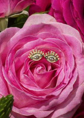 Native Gem Foresight Eye Stud Earrings