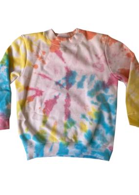 Disco Panda Kids Hand Tie-Dyed Sweatshirt