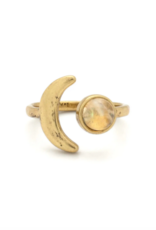 Hiouchi Jewels Mini Moon Adjustable Ring - Gold