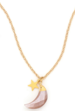 Hiouchi Jewels New Moon Necklace - Gold Moonstone