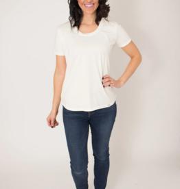 BYTAVI White Scoop Tee Shirt