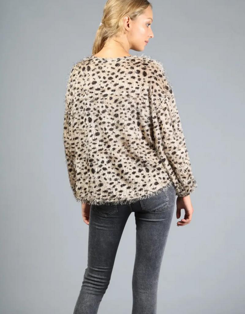 Loveriche Leopard Fuzzy Sweater
