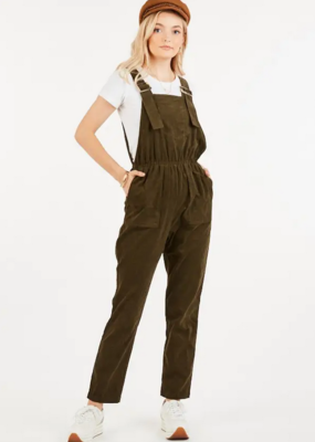 Loveriche Corduroy Overall Jumpsuit
