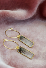 Harper Made Ellie Earring -  Rutilated Quartz