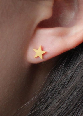 Nikki Smith Designs Smooth Star Studs - Gold