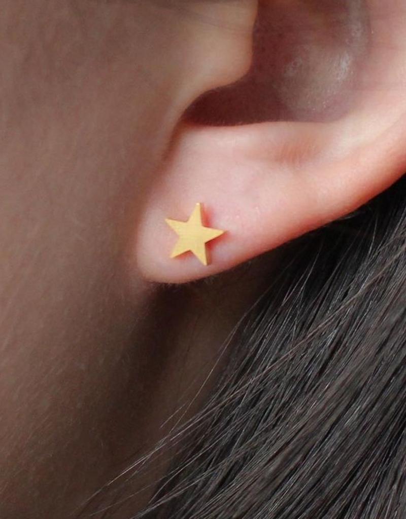 Nikki Smith Designs Smooth Star Studs - Gold