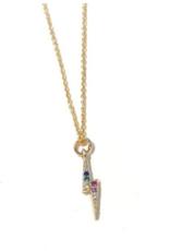 Nikki Smith Designs Audrey Lightning Bolt Necklace - Rainbow