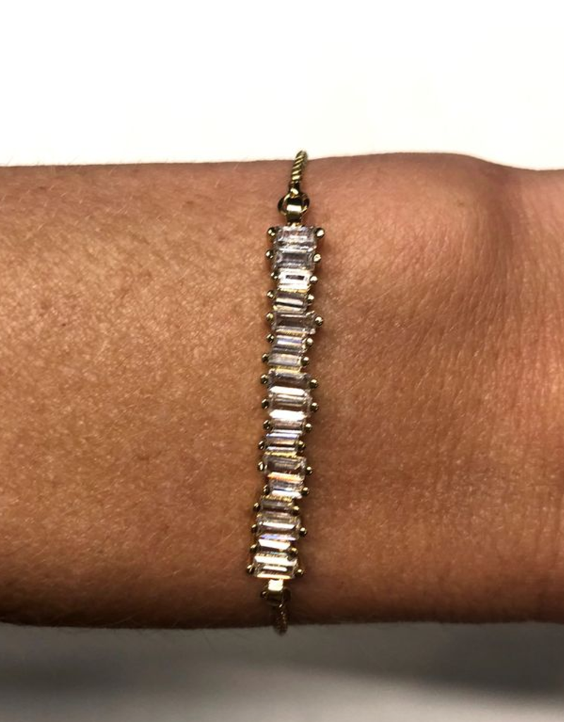 Nikki Smith Designs Gold Diamond Cluster Bar Slider