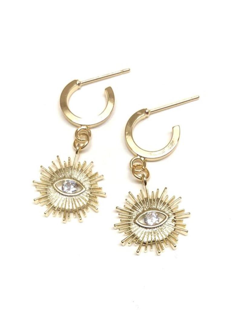 Nikki Smith Designs Golden Sun Hoops