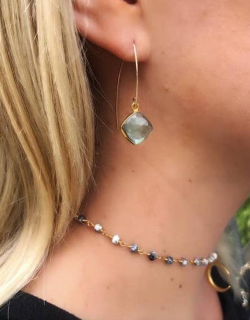 Nikki Smith Designs Gold Filled V's - Labradorite