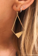 Nikki Smith Designs Geo Metal Earrings Gold Kite