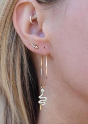 Nikki Smith Designs Crystal Cobra Hoops