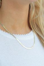 Nikki Smith Designs Skinny Gold Herringbone Necklace
