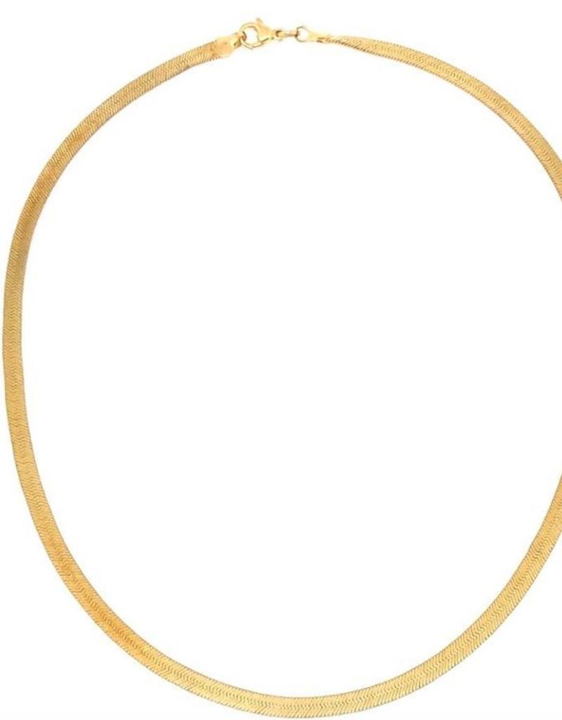 Nikki Smith Designs Gold Herringbone Necklace