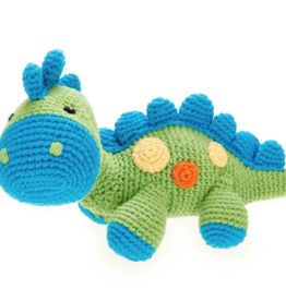 Pebble Dinosaur Rattle Steggy Green