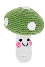Pebble Friendly Mushroom Rattle - Green