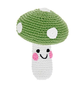 Pebble Friendly Mushroom Rattle - Green