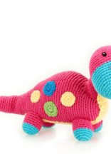 Pebble Dino Rattle Dippi Pink