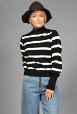 Loveriche Striped Turtle Neck Sweater