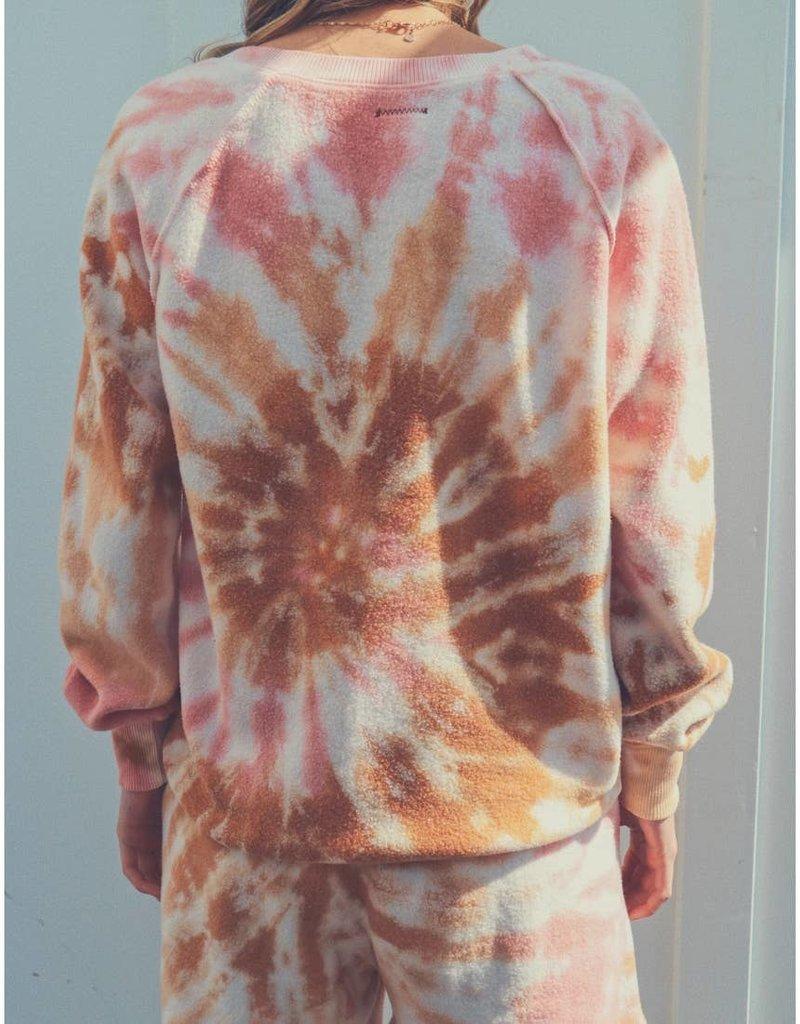 People of Leisure Gratitude V Pullover Tie Dye